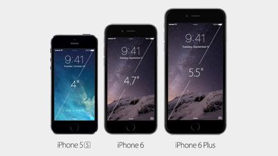 The iPhone 6 and iPhone 6 Plus will come in 16GB, 64GB, and 128GB.