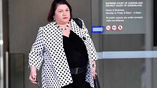 Psychiatrist Angela Voita is seen outside the Supreme Court in Brisbane.