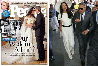 "George Clooney and Amal Alamuddin were married in style in Venice on September 27, celebrating over three days with their loved ones and A-list friends.<br/><br/>People magazine, who published the official photos from the big day, reports that the whole thing cost $1.6 million... a much smaller figure than E! News' original $4.6 million estimate!<br/><br/>But <a href=""http://au.eonline.com/news/583908/inside-george-clooney-and-amal-alamuddin-s-4-6-million-wedding"" target=""_blank"">E!</a>  has broken down exactly how much it'd all cost if the pair actually paid for everything. Scroll and see...<br/><br/>Images: <I>People</i> Magazine / Getty<br/><br/>Written by: Carmarlena Murdaca<br/>Approved by: Adam Bub"