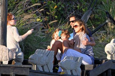 Jessica Alba, her husband Cash Warren with baby Honor Marie spent their vacation in Cabo with friends and family.