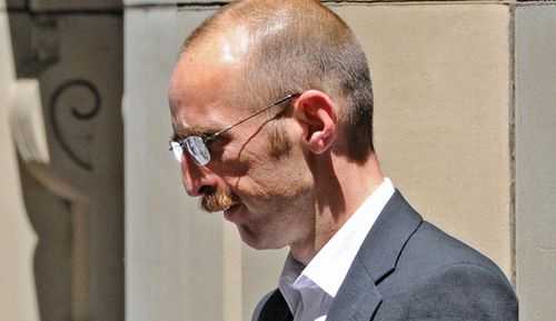 Hoddle Street mass killer Julian Knight leaves the Supreme Court in Melbourne in 2012. (AAP)