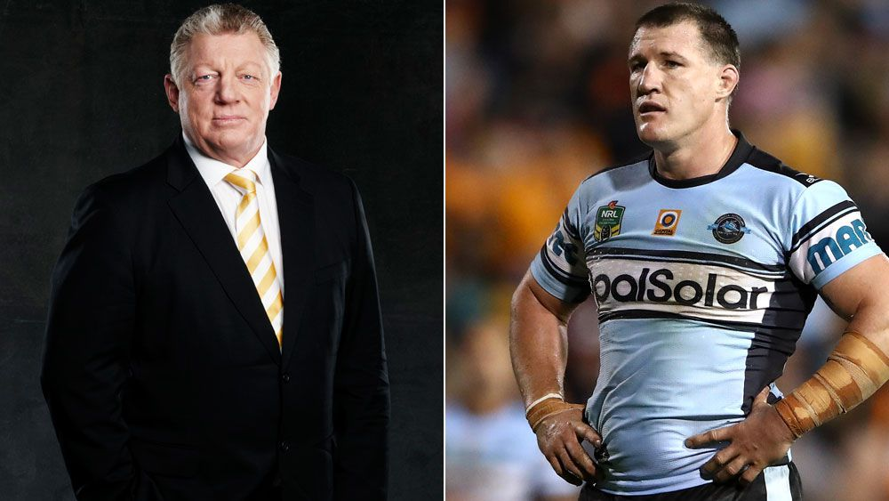 Phil Gould (l) and Paul Gallen (r).