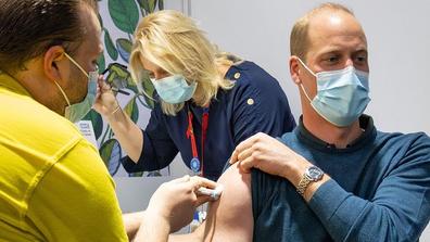 Prince William gets COVID-19 vaccine