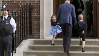 'Proper Princess': Charlotte steals hearts with royal wave