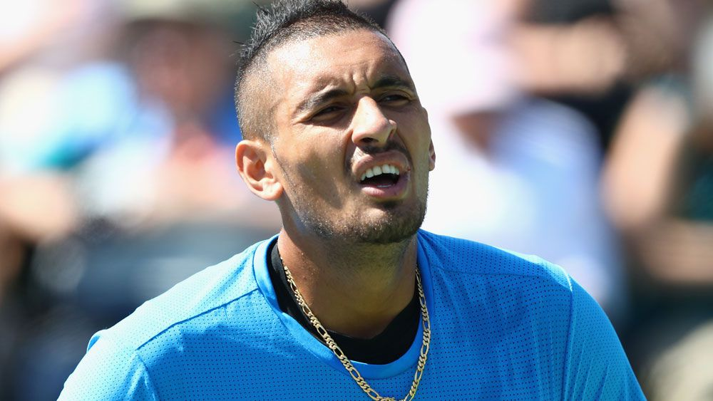Kyrgios in fiery exit at Indian Wells