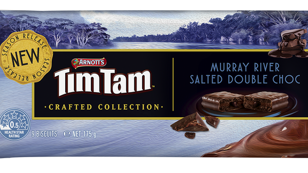 Arnott's new Murray River Salted Double Choc Tim Tam flavour