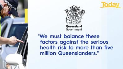 Queensland Health issued this statement last night.