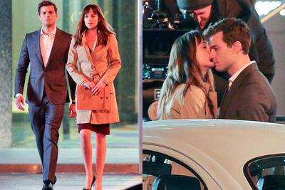 We're betting <i>Fifty Shades</i> co-star Dakota Johnson had no complaints working with someone who looks <i>that</i> good in a suit.<br/><br/>(Images: Splash)