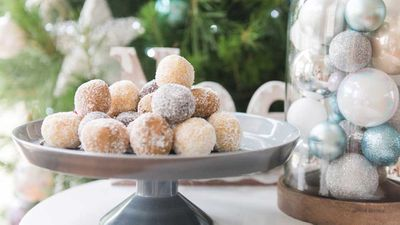 "Recipe: <a href=""https://kitchen.nine.com.au/2017/12/19/18/03/christmas-protein-truffles"" target=""_top"">Be Fit Food Christmas protein balls</a>"