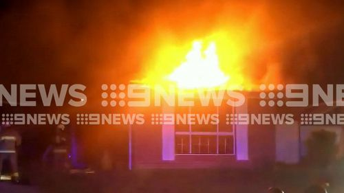 Police believe the fire was lit by arsonists. (9NEWS)