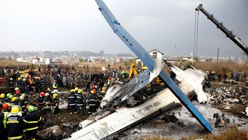 US-Bangla Airlines Flight BS211 from Dhaka crashed on its second landing attempt.