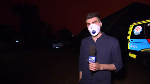 Mallacoota was plunged into darkness in mid-afternoon as bushfires raged nearby.