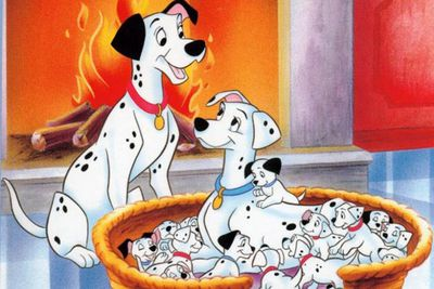 Cruella De Vil's obviously not a 'dog' person ... we can't understand why. Our spotty heroes escape becoming fur coats.