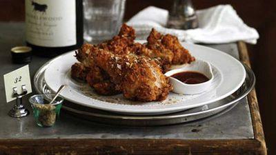 Crisp Southern fried chicken