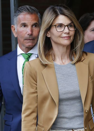 Lori Loughlin and husband Mossimo Giannulli leave court