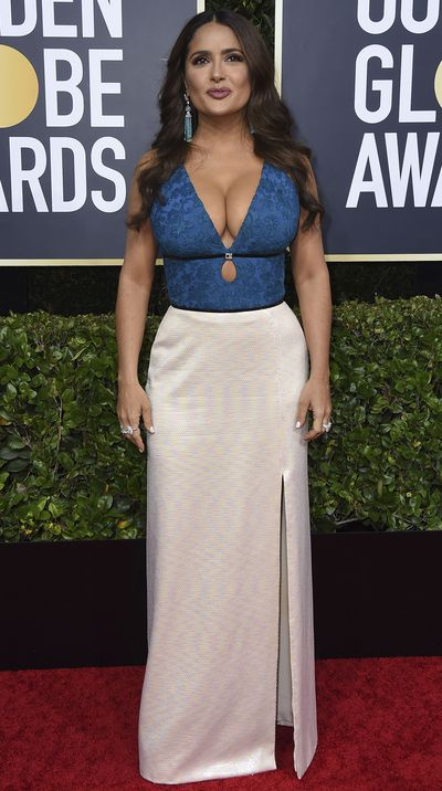 Salma Hayek at the 2020 Golden Globes.