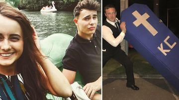 Group of 50 Welsh lads hold funeral for mate after he gets a girlfriend