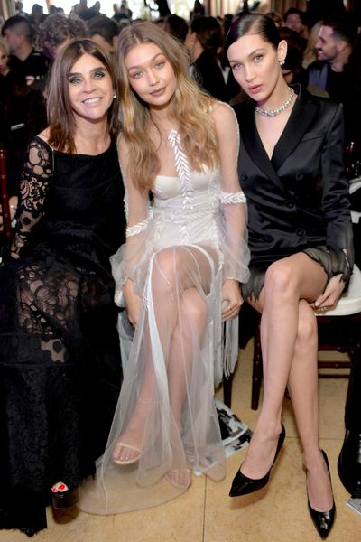 """<p>Fashion's elite hit LA's Sunset Tower Hotel overnight for <em>The Daily Front Row</em>'s second annual Fashion Los Angeles Awards. Big winners included Bella Hadid who, with boyfriend The Weeknd by her side, was crowned Model of the Year. Lady Gaga was named editor of the year for her work guest-editing an issue of <em>V</em>, while Carine Roitfeld won magazine of the year for her title <em>CR Fashion Book</em>. </p><p>Gigi Hadid got emotional presenting Roitfeld with the coveted award saying, """"On a personal note, thank you for believing in and giving me these past few years and being an unequivocal mentor and friend.&nbsp; My career would be unrecognisable without you.""""<br><br>Click through to see who was there and what they wore.</p>"""