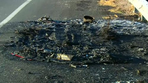 Debris from the fire. (9NEWS)