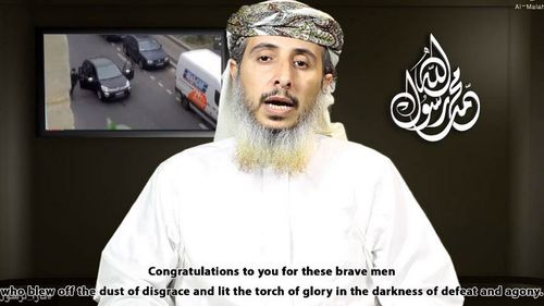 Al Qaeda in the Arabian Peninsula commander Nasr al-Ansi has claimed responsibility for the Charlie Hebdo attacks in a new video. (Supplied)