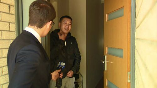 A resident describes having a knife held to his throat. Picture: 9NEWS