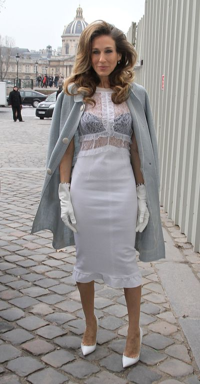Sarah Jessica Parker at the Louis Vuitton Ready-To-Wear Fall/Winter 2012 show in Paris, France