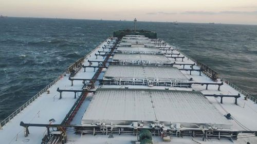 A photo taken on board the Jag Ananda bulk carrier last year.
