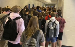 American student suspended after posting a photo of a crowded school hallway says it was 'good and necessary trouble'