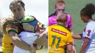 Aussie accused of biting English opponent in World Cup clash