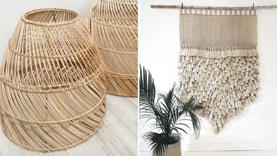 Natural homewares that The Block's Deb believes add to a natural coastal feel.