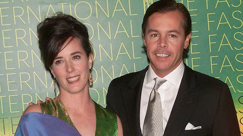 Spade and her husband Andy Spade. Picture: Getty
