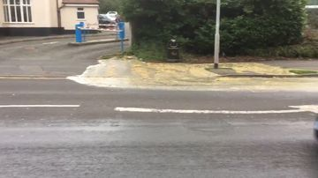 """A """"river of poo"""" has flooded a UK street."""