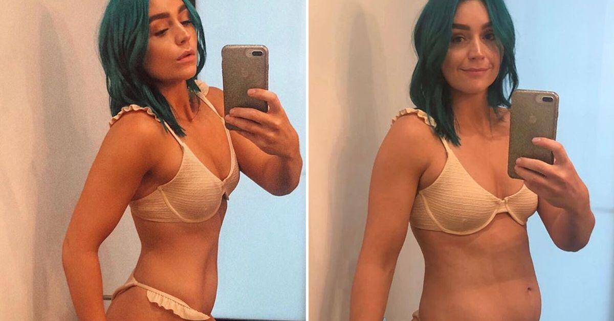 Amy Sheppard Shares Instagram Vs Reality Photo Nothing Should Be