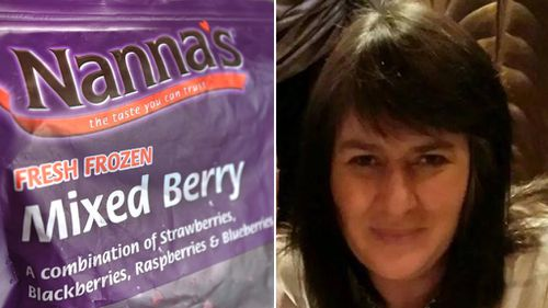 Ballarat woman Trudie Sims fears she has contracted Hepatitis A from Nanna's frozen berries. (AAP/Facebook)