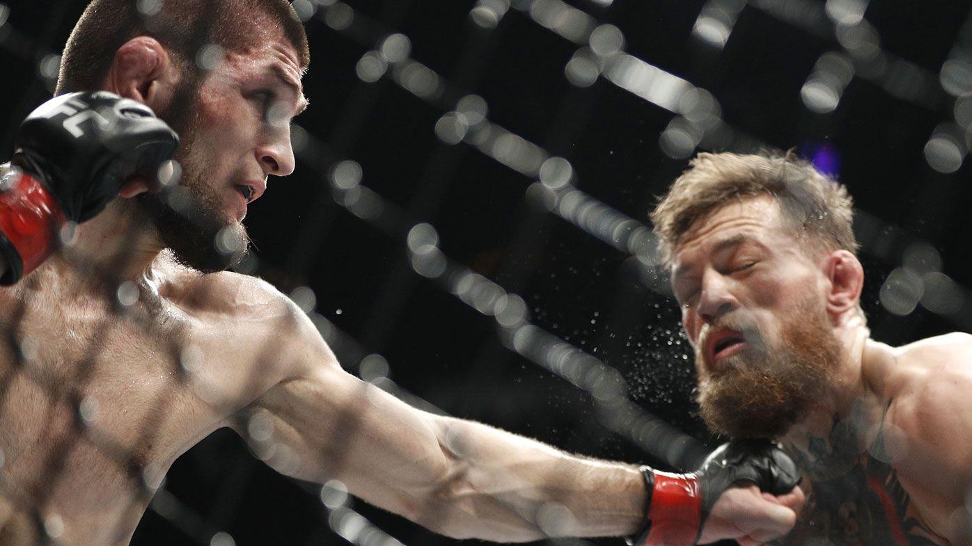Khabib Nurmagomedov hits Conor McGregor