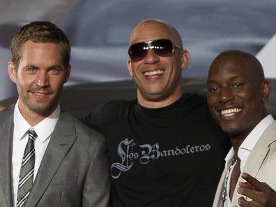 Paul Walker, Vin Diesel and Tyrese Gibson