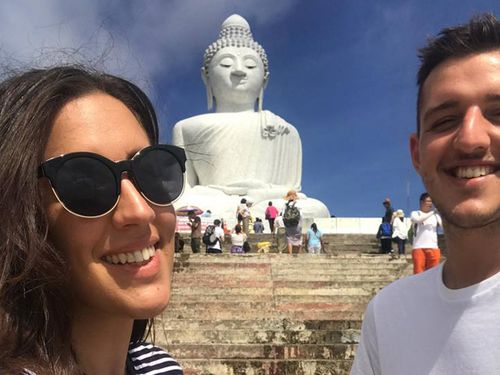 Siblings Christina and Alexander Schiano were on holiday in Thailand when the incident took place. (Supplied)