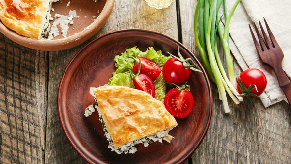 Low-fat spinach pie recipe, as featured in Shape Me by Susie Burrell