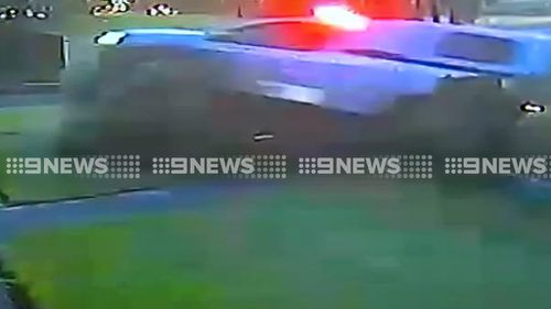 The crash caused extensive damage to the Smithfield home. (9NEWS)