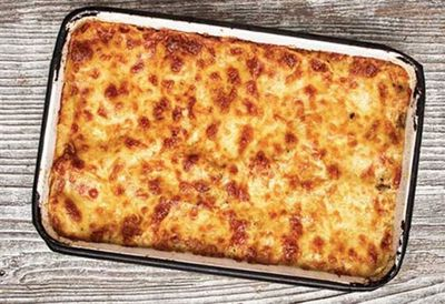 Pasta al forno (cheesy eggplant pasta bake)