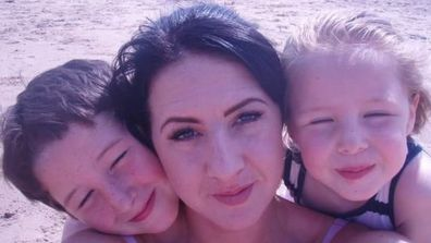 Mother Kerry Williams shared a photo of her two children on Facebook following her daughter's unexpected death