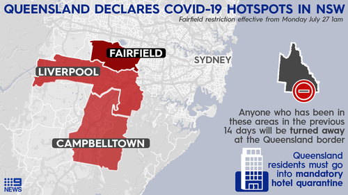 Fairfield was declared a COVID-19 hotspot by the Queensland government.