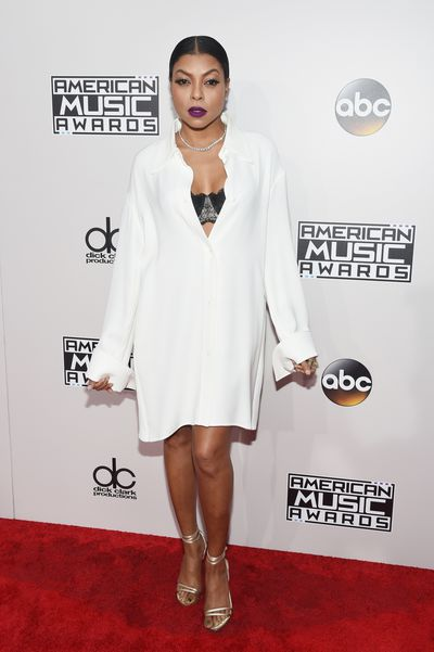Failed to chart <br /> Taraji P Henson<br /> This look should work. White shirts are a classic fashion staple and nothing can be sexier than a woman in a man's shirt but this look is best kept in the bedroom. This Celine dress is shapeless, unflattering and just looks lazy. Buy pants. Buy a dress. Buy a stylist, please.