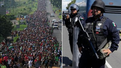 US migrant convoy swells to 5000