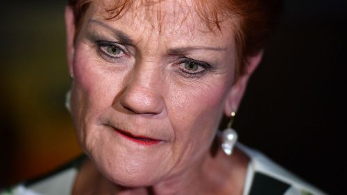 Pauline Hanson was still hopeful One Nation had a chance. (AAP)