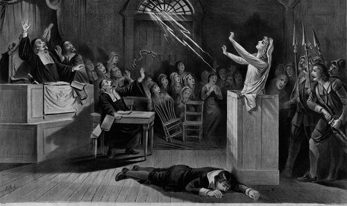 A 'cultural depiction' of the Salem witch trials. (Wikipedia Commons)