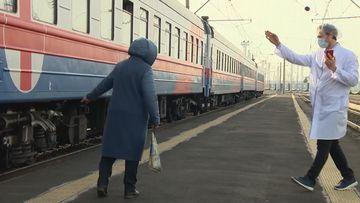 Russian train taking COVID-19 vaccines to remote reaches of Siberia