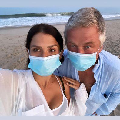 Alec Baldwin, wife Hilaria Baldwin, quarantine apart. Hamptons, New York, living separate homes