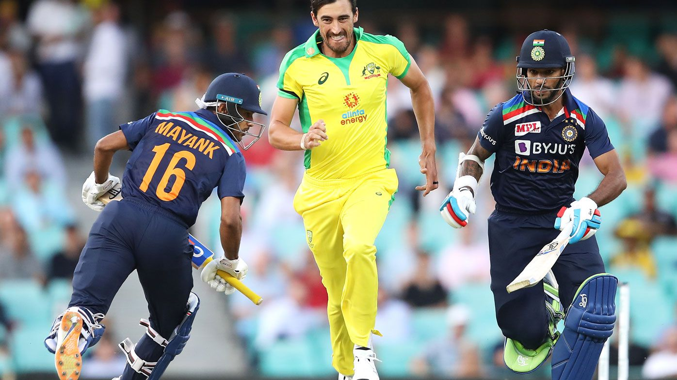 Mitchell Starc had a less than impressive start in his first over of the summer. (Getty)