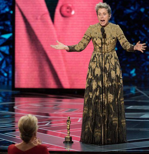 The Best Actress winner was applauded for her Oscars speech. (AAP)